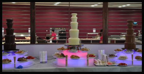 chocolate fountain hire is great with a photobooth rental